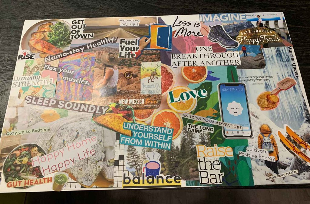 Lisa's Vision Board for 2021